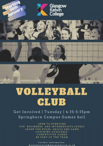 Poster for Volleyball Club