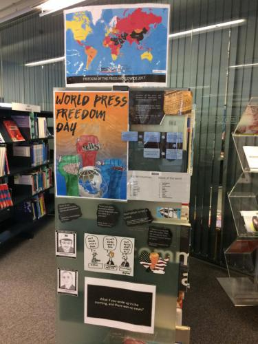 World Press Freedom Day display