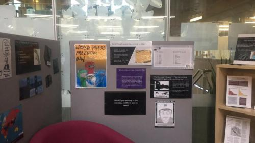 world press display at library
