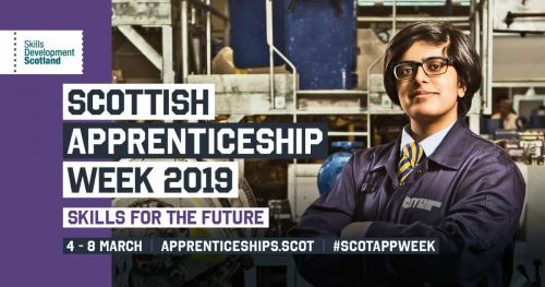 Scottish apprentice week graphic