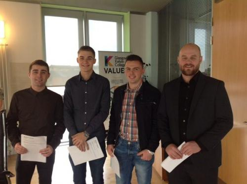 A delighted Ciaran, Paulius, Matteusz and Christopher are pictured here.