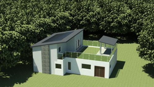 CAD model of house