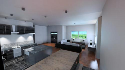 CAD kitchen, sitting room design