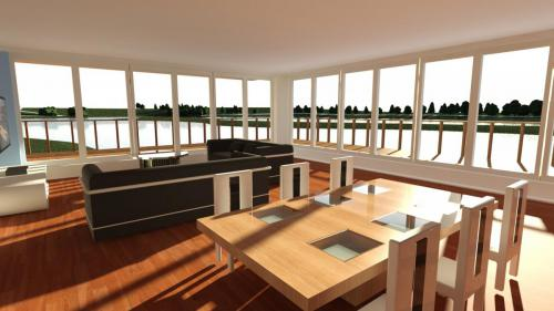 CAD living. dining room design