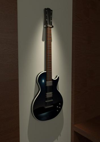 Guitar designed in CAD