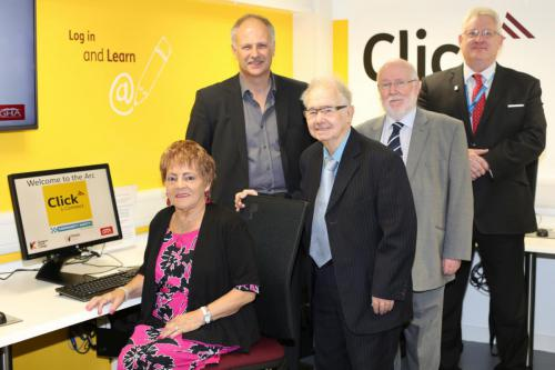Opening of the 'Click & Connect' room at the Ashgill Recreation Centre (ARC) in Milton