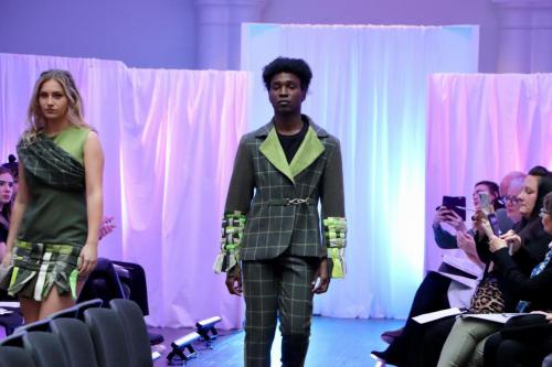 Male model in checked suit