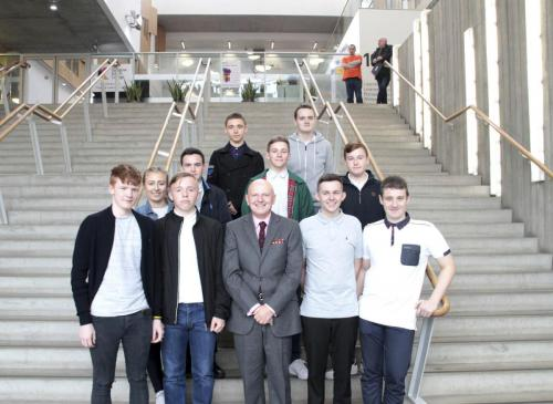Alan Sherry with Apprentices