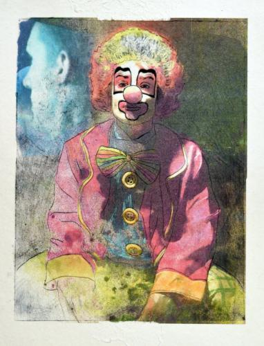 Painting of clown