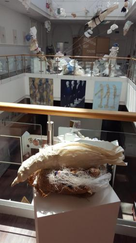 Exhibition viewed from balcony