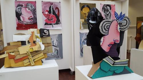 Models and Paintings by student