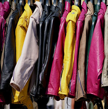 Row of colourful jackets
