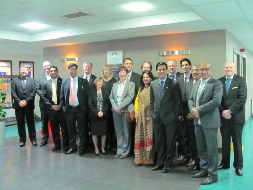 The delegation from India with some of their hosts at Glasgow Kelvin College's Easterhouse Campus