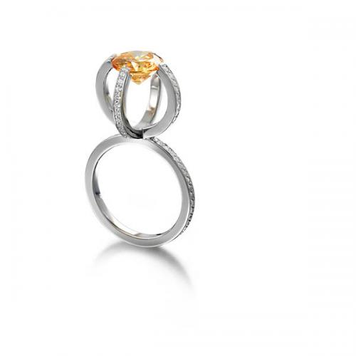 ring with orange stone