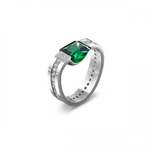 ring with green stone