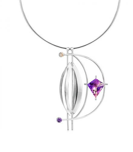 necklace with purple stone