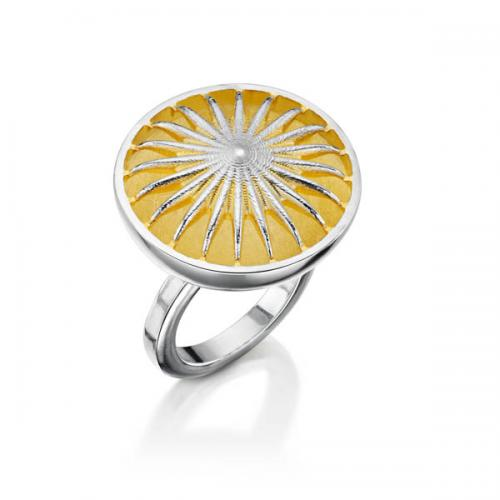 ring with yellow enamel