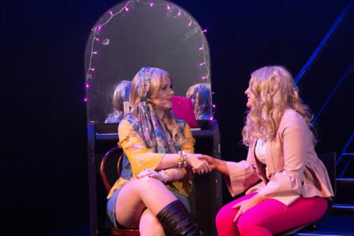 students performing Legally Blonde stage show