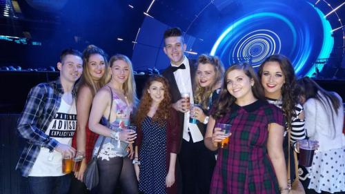 Students pictured at the MTV event