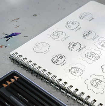 Pencil Character Drawings