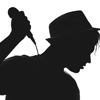 silouette of singer