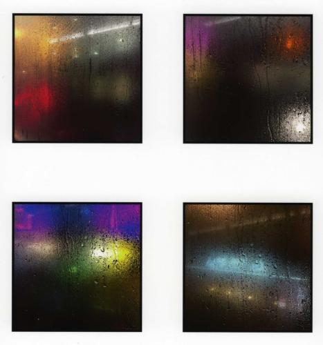 4 coloured glass panels