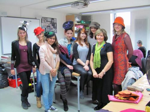 Fashion students from Modeschulen Nurnberg