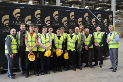 Pupils on a recent visit to CCG OSM in Cambuslang