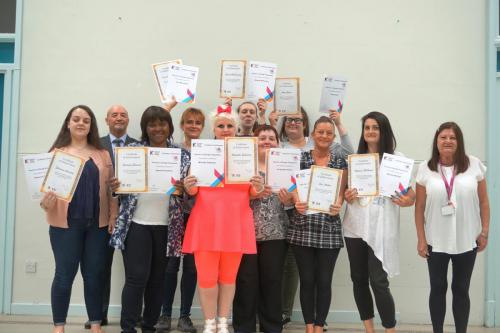 Rosemount Community Group with their awards
