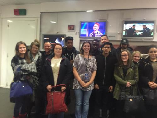 Students visiting STV studios