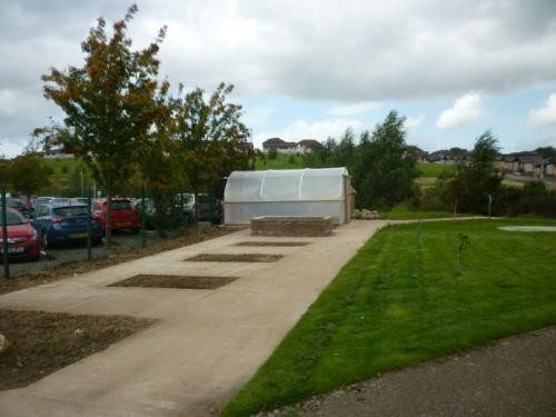 Garden with poly tunnel