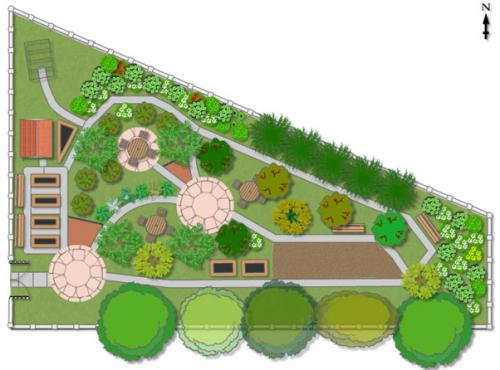 Plan of garden layout