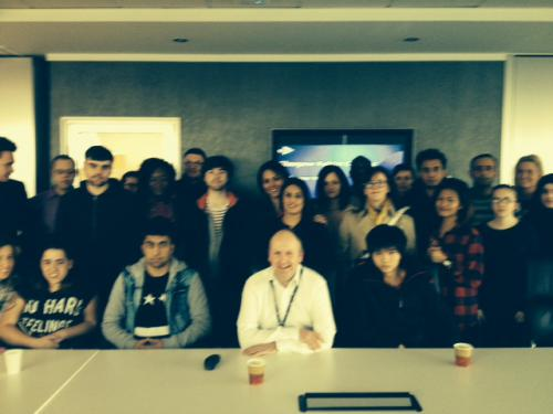 HND Accountancy students at a fact-finding visit to STV studios in Pacific Quay